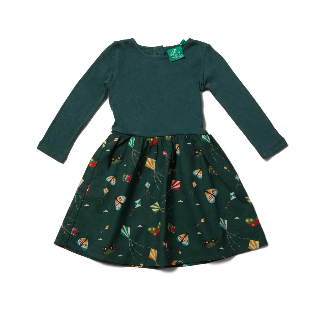Little Green Radicals twirlerdress Midnight Kites